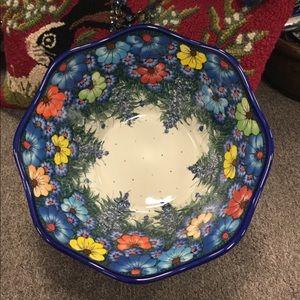 Polish Pottery Large Bowl